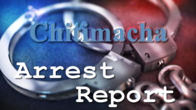 Photo of Chitimacha Tribal Police Arrest Report – 09-08-20
