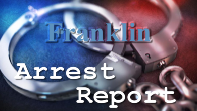Photo of Franklin Arrest Report 8-12-2020