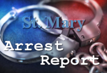 Photo of St. Mary Arrest Report 11-25-2020