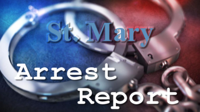Photo of St. Mary Arrest Report 8-12-2020