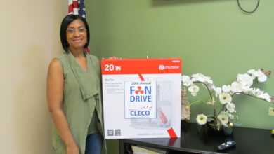 Photo of St. Martin Council on Aging participates in 20th Annual Cleco Fan Drive to help elderly