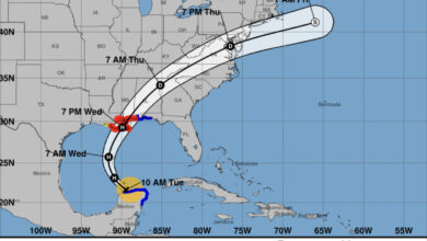 Photo of Tuesday 10 am Update on Tropical Storm Zeta