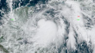 Photo of Zeta likely hurricane before hitting Yucatan, heading for US